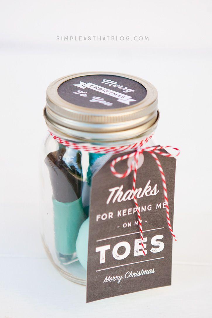 Simple Mason Jar Gifts with Printable Tags | Christmas Ideas ...