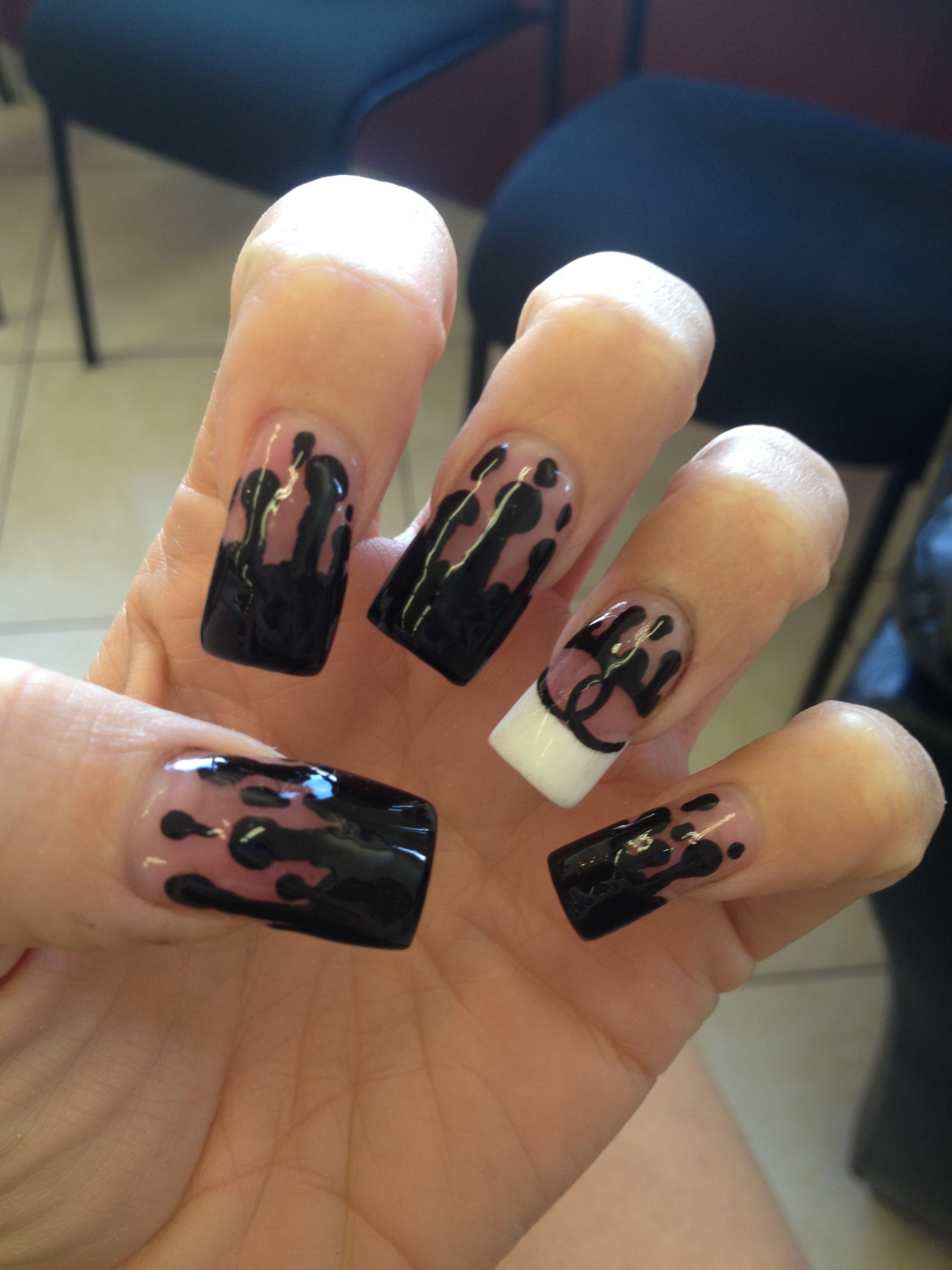 Chanel nail design pretty pinterest chanel nails design chanel nail design prinsesfo Image collections