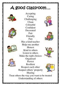 A Good Classroom is | {kinder} Phrases | Classroom
