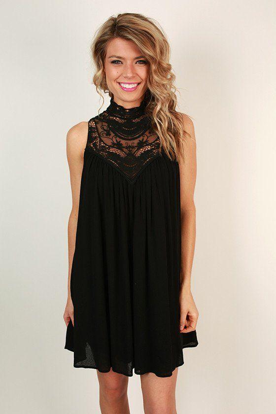 Black lace boutique dress