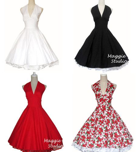 50s 60s Pinup Rockabilly Vintage Swing Full Skirt Jive