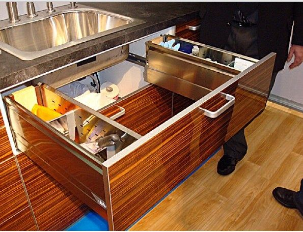Kitchen Design : Under Sink Storage Kitchen Drawer From Polywood ...