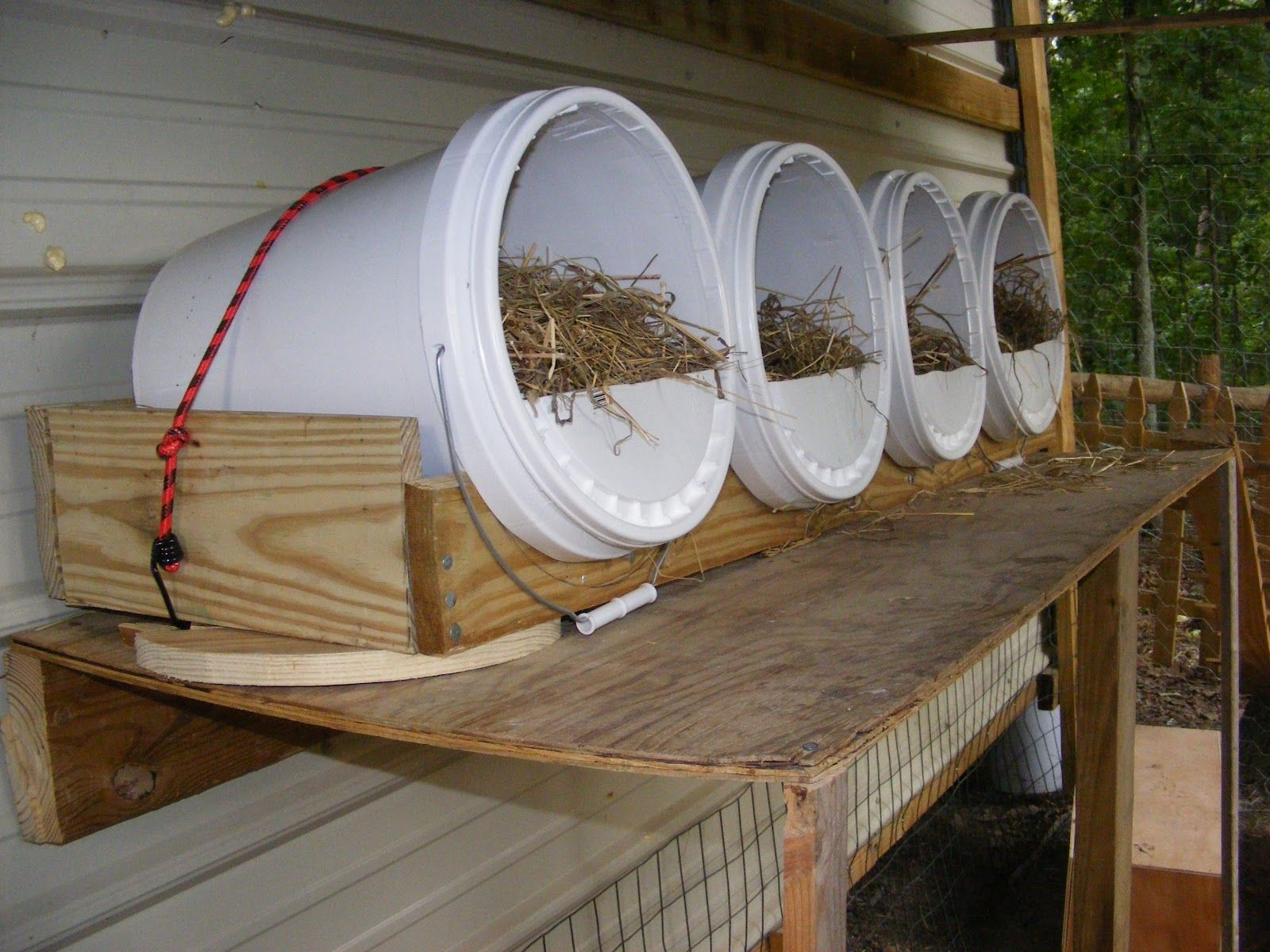Pvc chicken coop which they seem to like and are easy to - Como hacer un gallinero ...