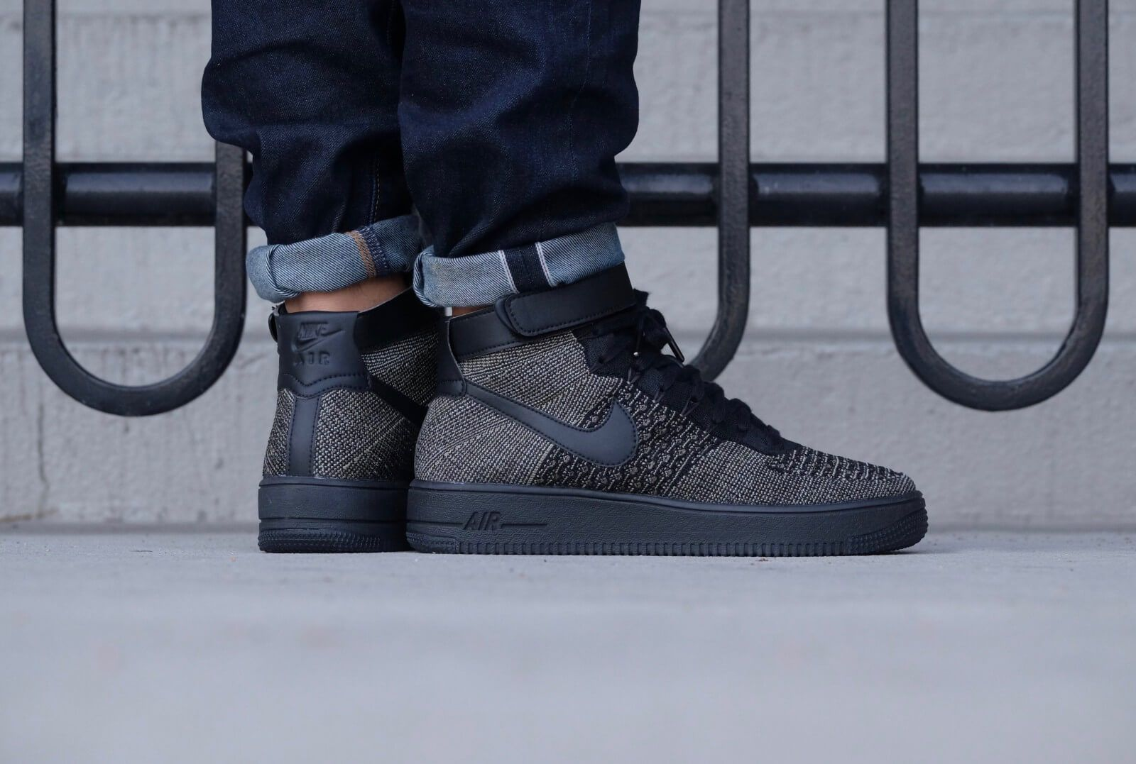 Air Force 1 Ultra Flyknit Mid Palm Green/Black-White   Nike ...