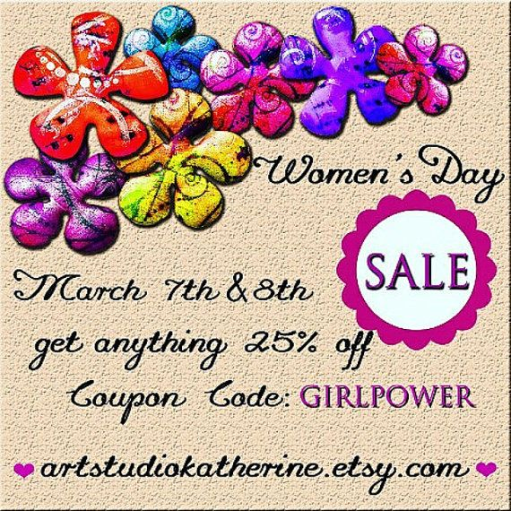 Women's Day Sale Two day sale 25 % off by ArtStudioKatherine