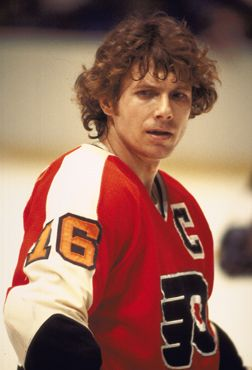 Philadelphia Flyers Captain Bobby Clarke.  b5016a067