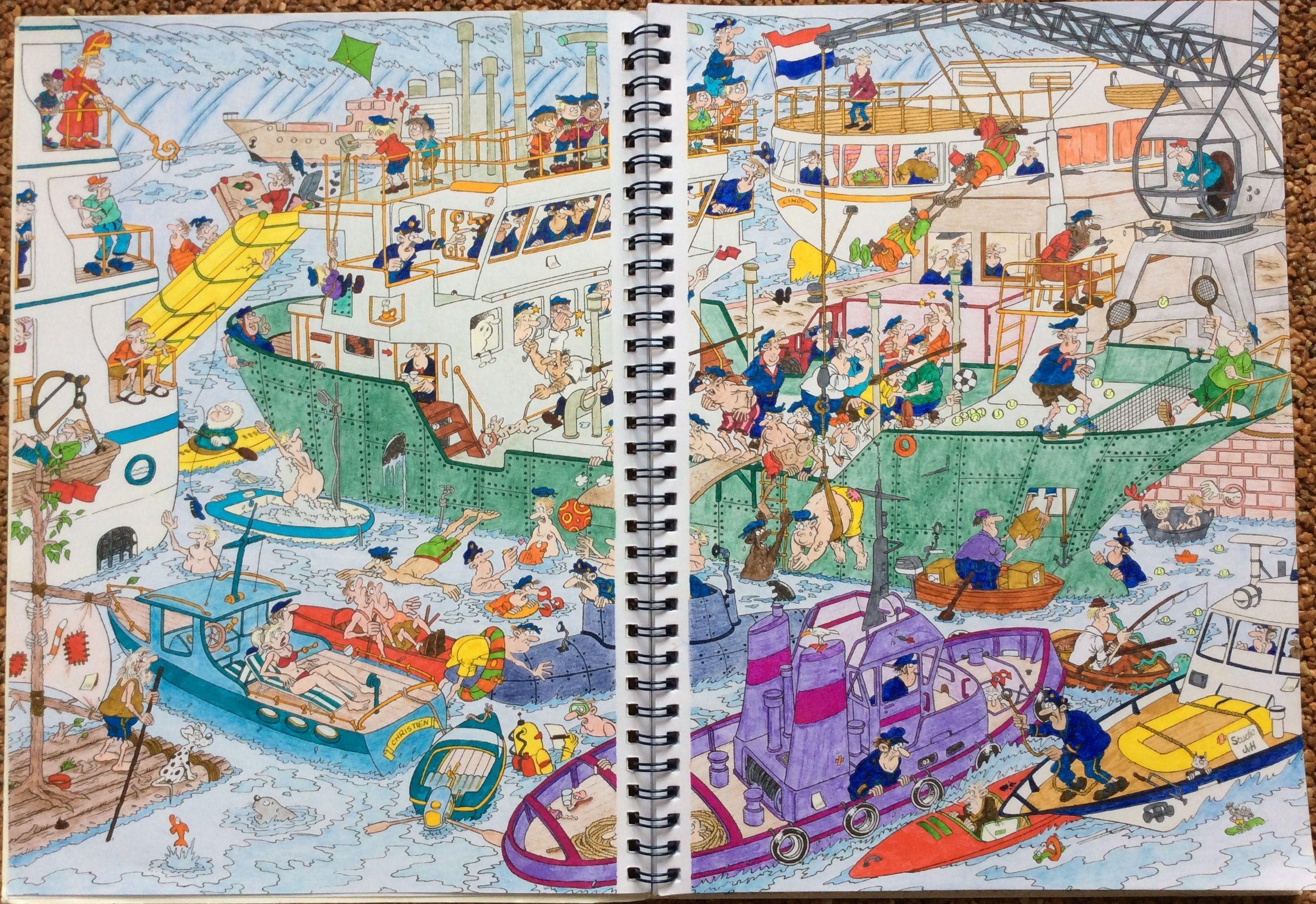 Jan Van Haasteren Colouring Book Colored By Heleen Keizer Kleurplaten Keizer