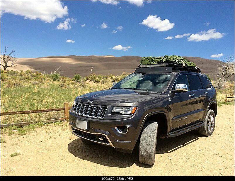 201x Jeep Grand Cherokee With Gobi Roof Rack And Light Bar