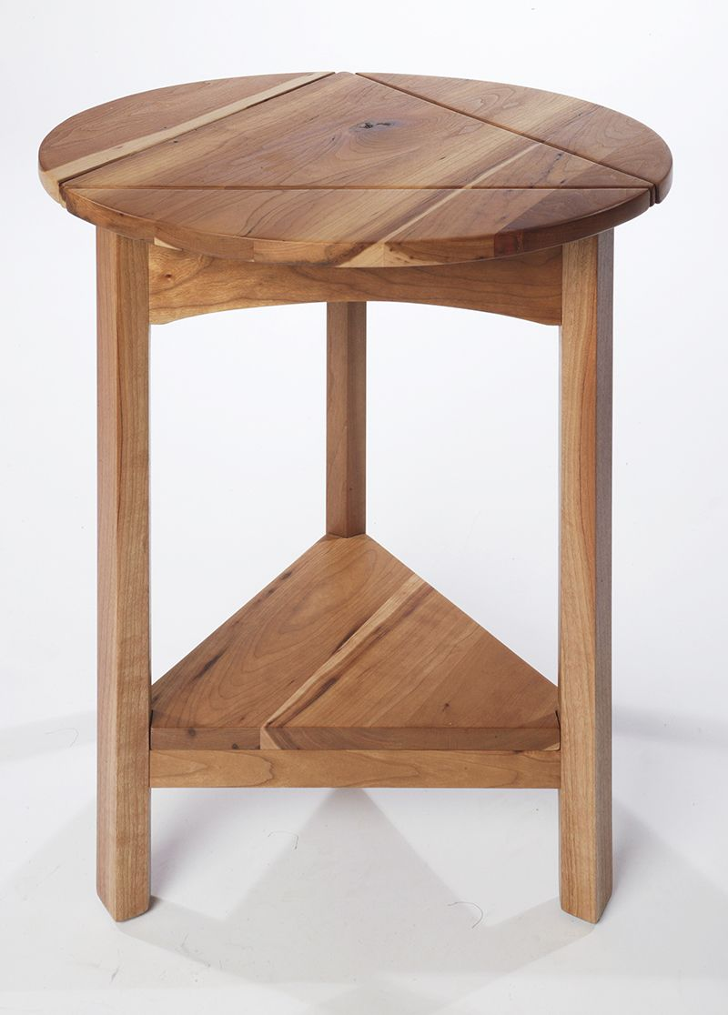 triangle table rustic cherry end table minidrop leaf  home  - triangle table rustic cherry end table minidrop leaf