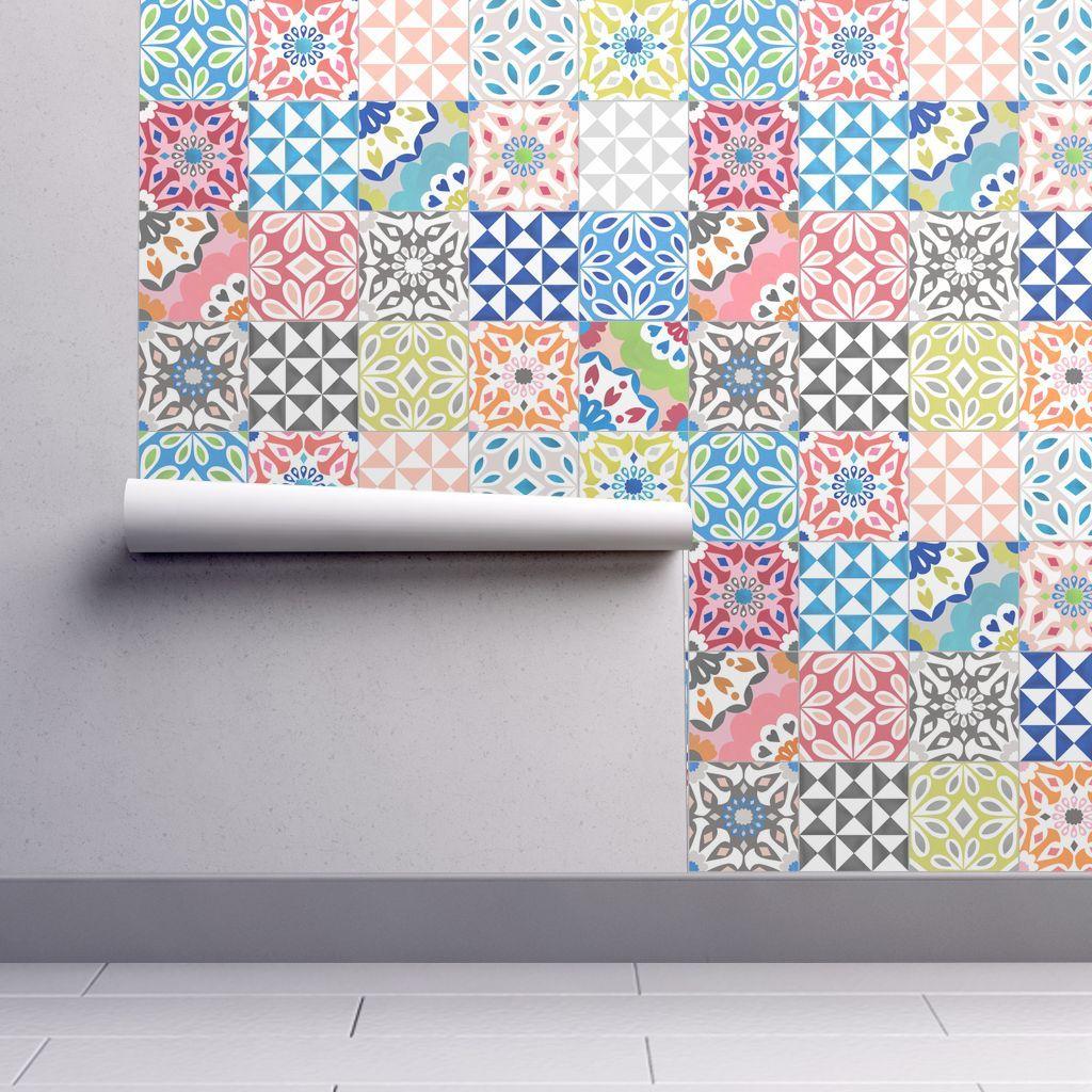 Wallpaper Eclectic Tile Eclectic Tile Tile Wallpaper Self Adhesive Wallpaper