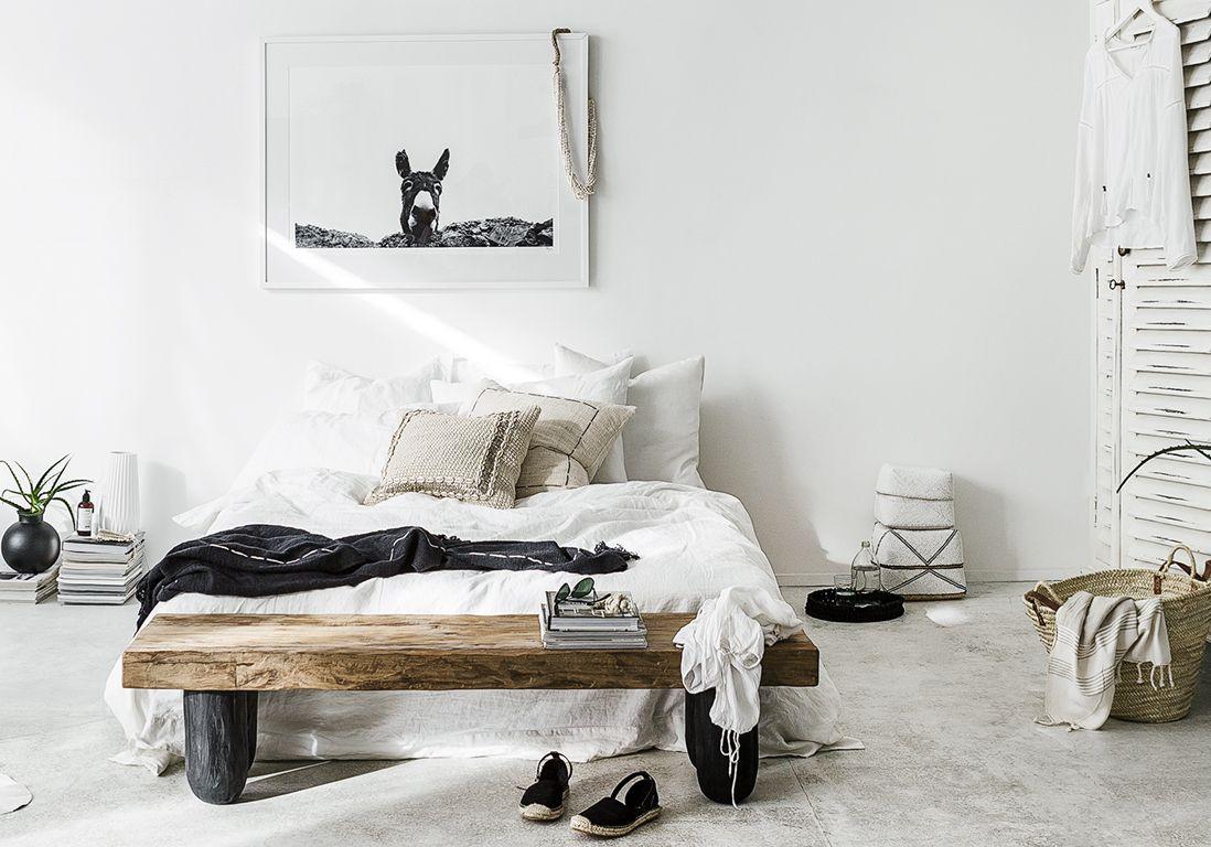 La chambre blanche en 19 façons - Elle Décoration  Chambre