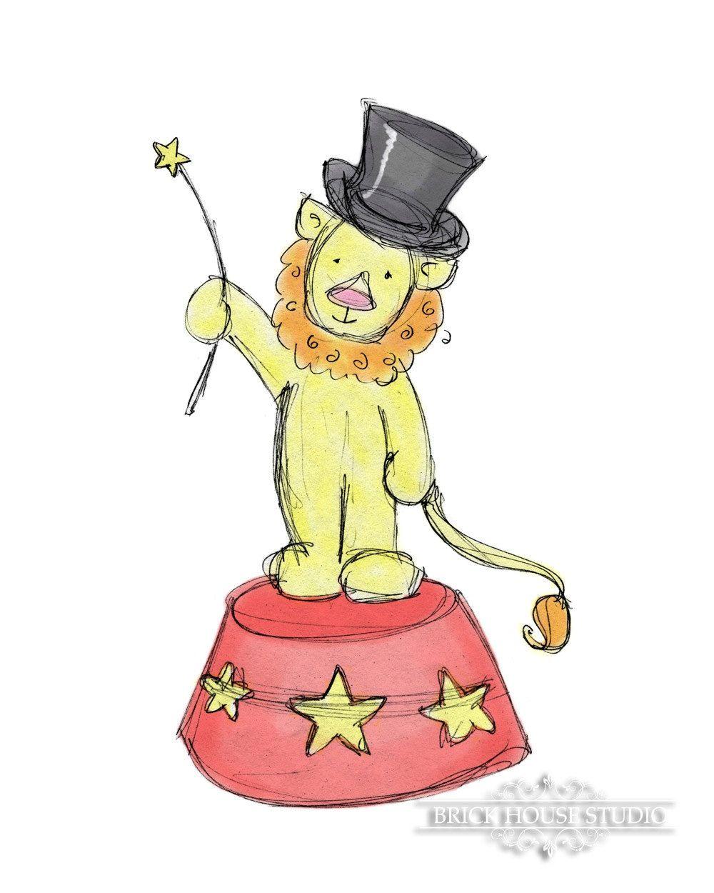 Nursery Room Art Circus Lion 5x7 Print by BrickHouseStudio, $9.00 ...