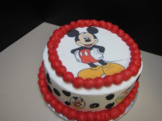 Mickey Mouse Birthday Cake Design