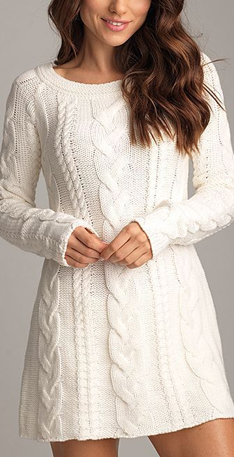 2020 Kar Beyaz Triko Elbise Modelleri Sik Ve Dikkat Cekici Kazak Elbiseler Sik 2020 2020 In 2020 Hand Knitted Dress Knitwear Dress Cable Knit Sweater Dress