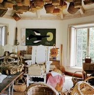 .baskets from ceiling.