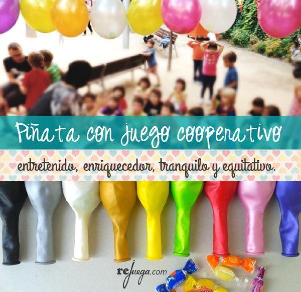 piata casera con juego cooperativo otra manera de hacer piatas infantiles ideas