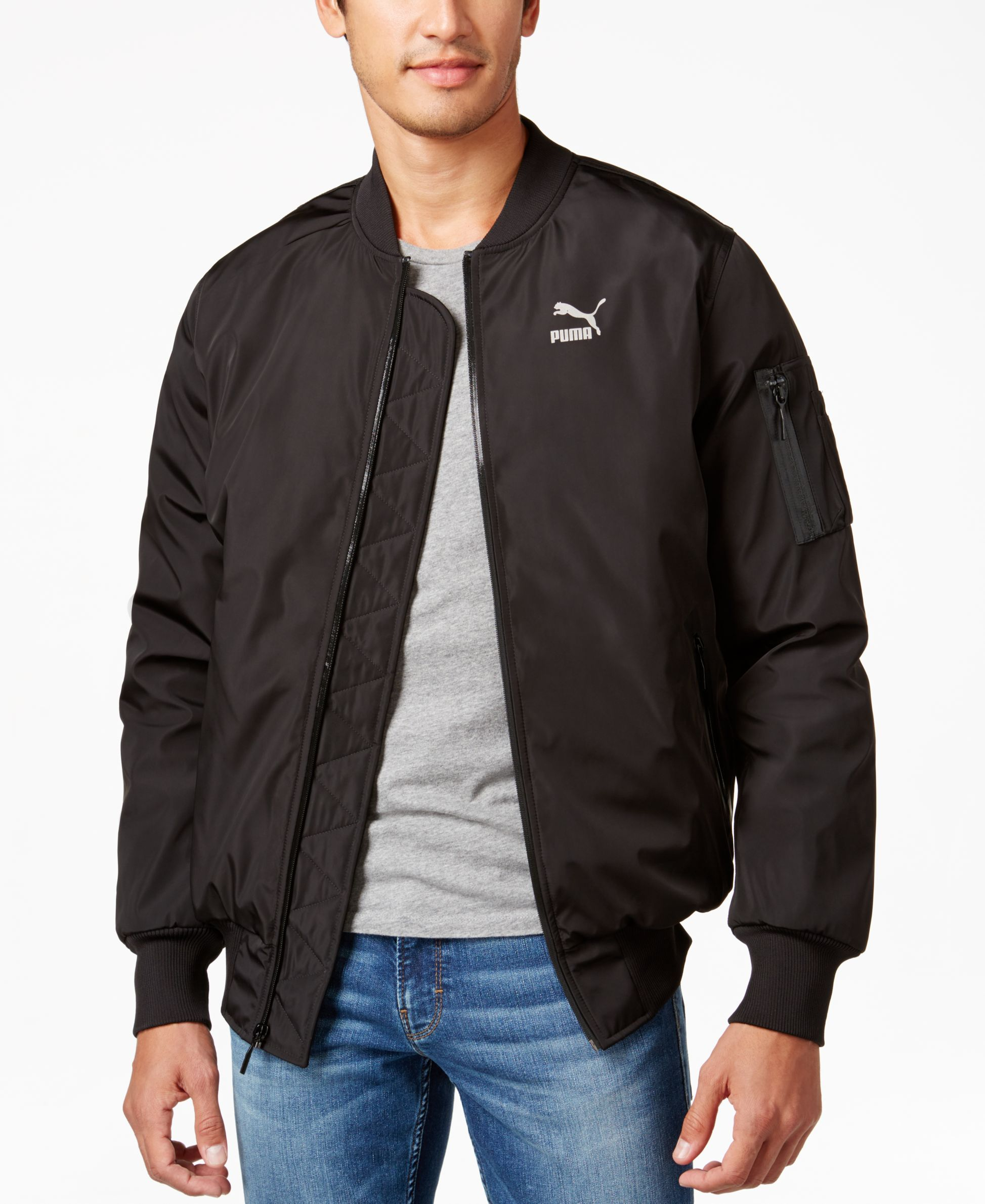 Puma Men S Evo Bomber Jacket Coats Jackets Men Macy S Bomber Jacket Jackets Puma Mens [ 2378 x 1947 Pixel ]