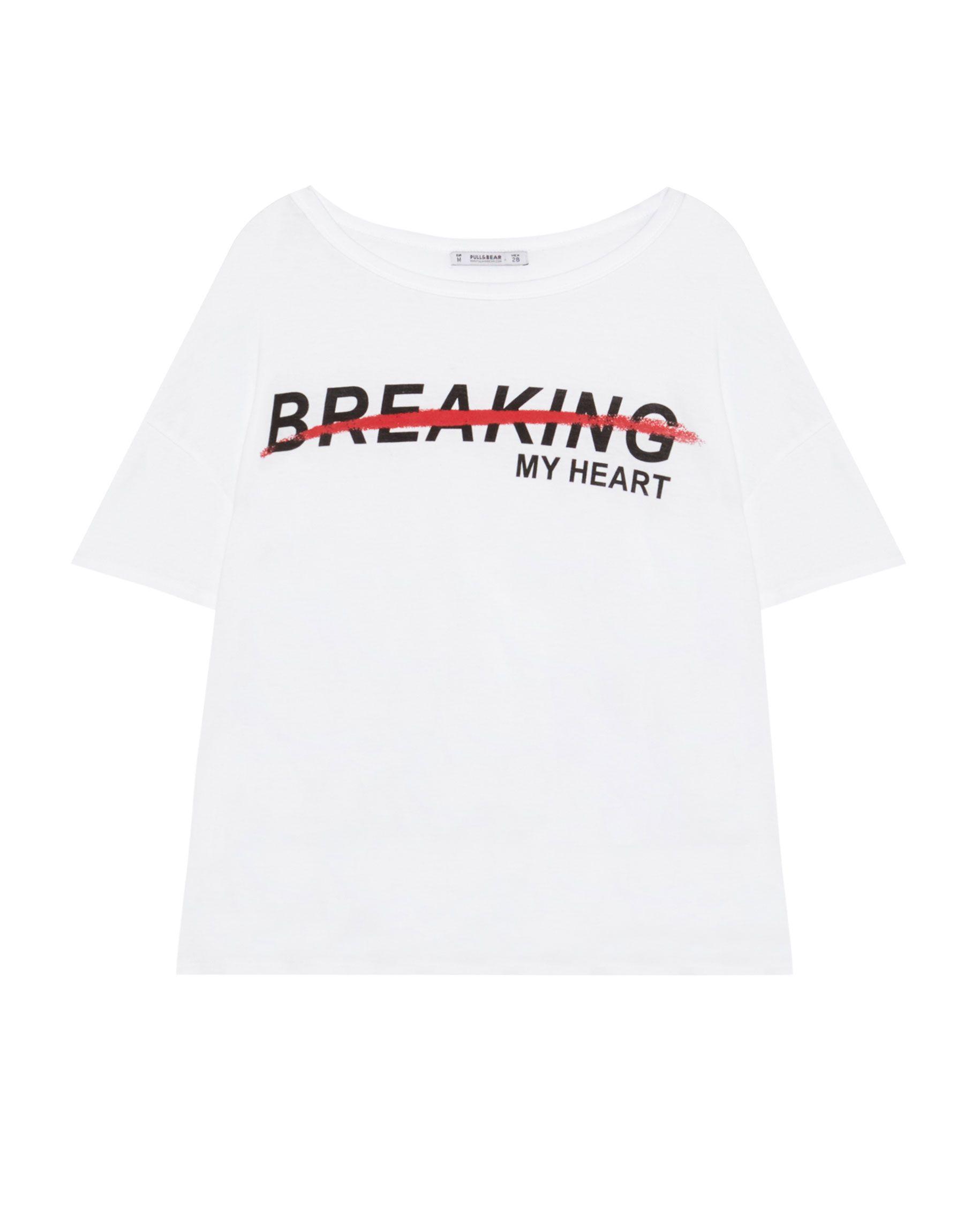 Pullbear Unicorn case print T-shirt