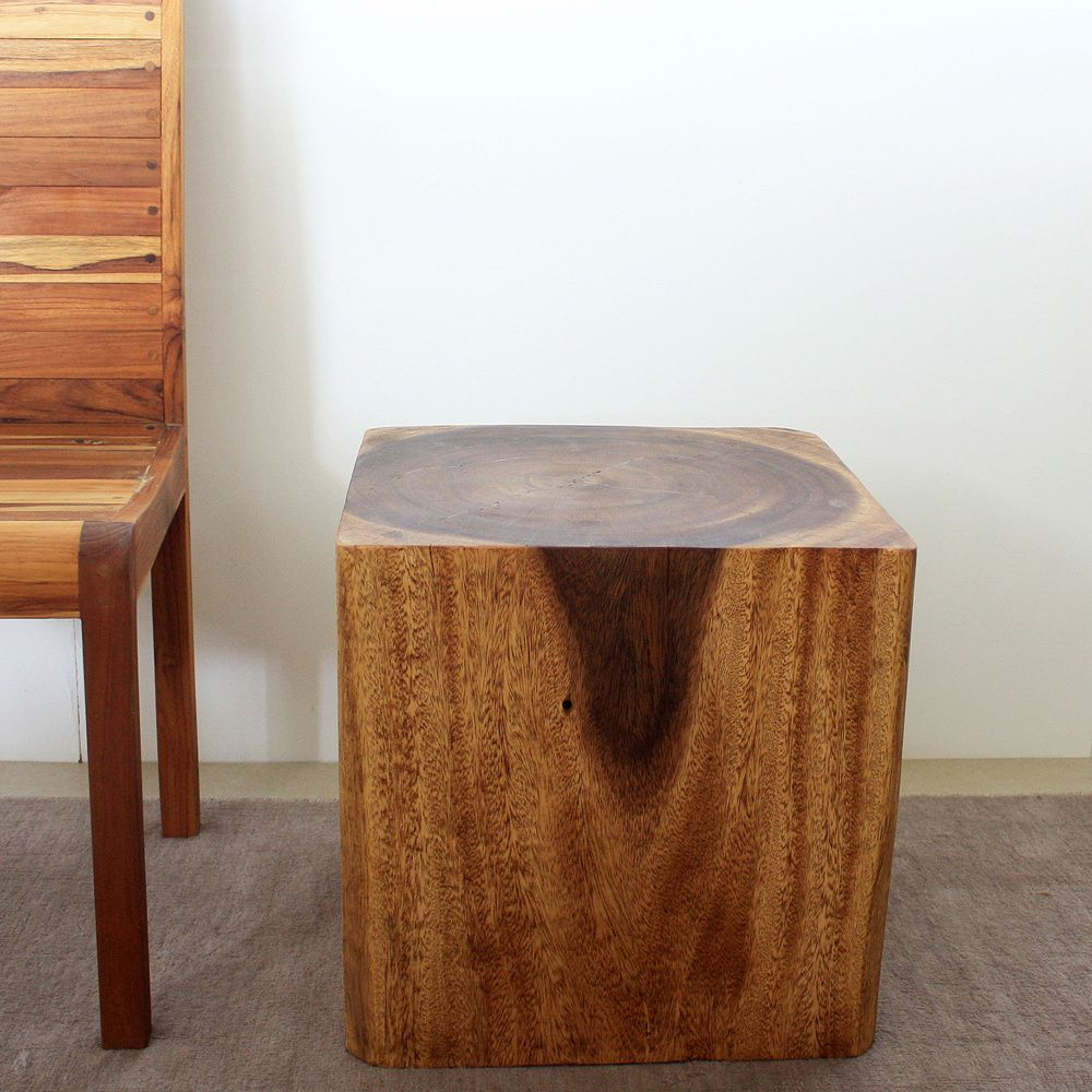 Wooden Cube 18 Walnut Oil End Table Thailand By Haussmann Sofa End Tables Shopping And Pedestal