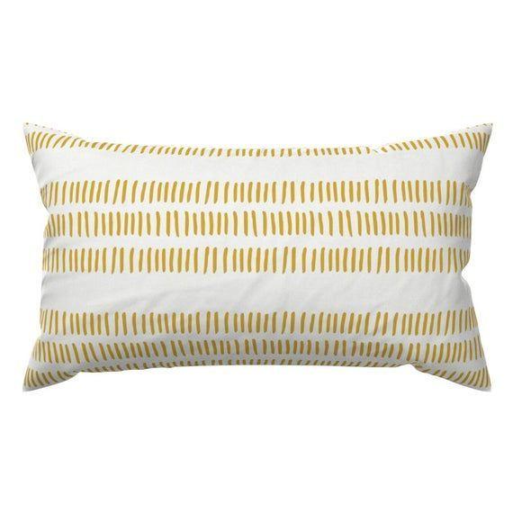 Boho Accent Pillow  Modern Farmhouse Dash by littlearrowdesign  Yellow Golden Stripes Trib Boho Accent Pillow  Modern Farmhouse Dash by littlearrowdesign  Yellow Golden S...