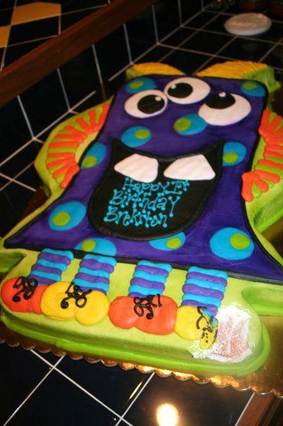 Little Boys Monster Theme Birthday Cheris Bakery Wichita KS