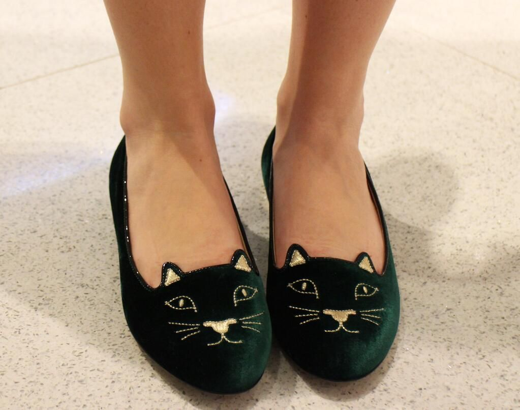 These kitty-cat Charlotte Olympia flats have us 'feline' good...