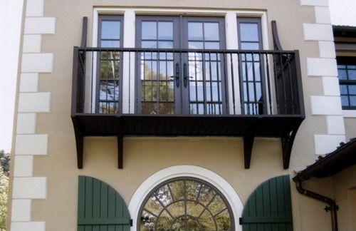 Small balcony exterior front house design   Iron balcony ...