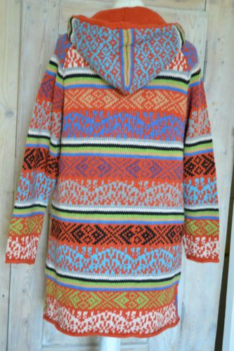 Coat jacket hooded wool knitting NP235 € GR M 38 Odd Molly Flower | eBay