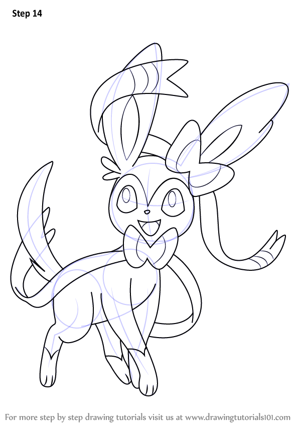 Learn How To Draw Sylveon From Pokemon Pokemon Step By Step Drawing Tutorials Pokemon Coloring Pages Pokemon Coloring Pokemon Drawings