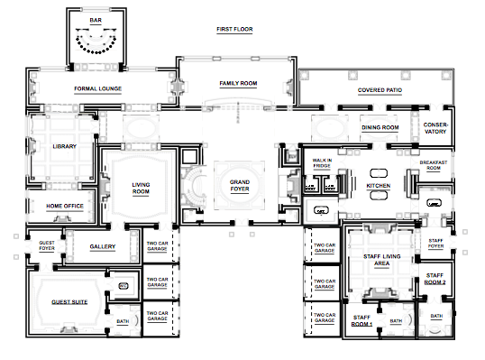 Another open plan ground floor (could use this well) | House Plans ...