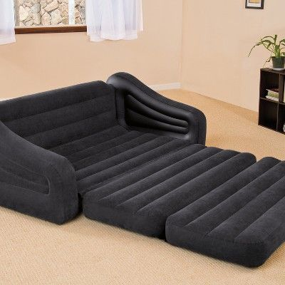 Intex Inflatable Queen Size Pull Out Futon Sofa Bed Pull Out