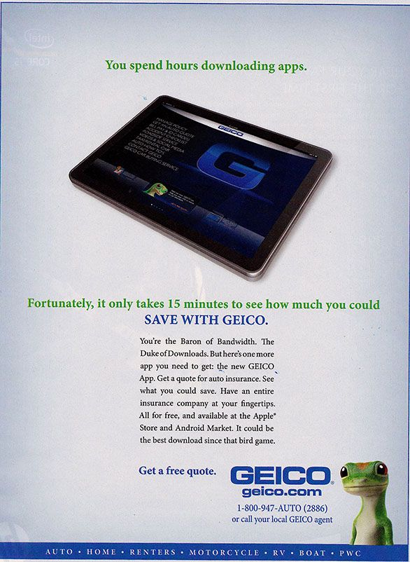 Geico Print Ads Some Of The Best Print Ads Align Their Brand