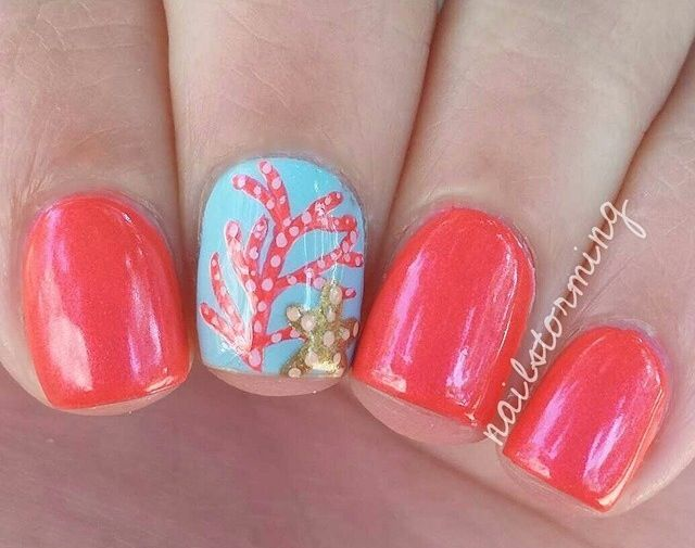 Cute Hot Pink Nail Design Nails Pinterest Hot Pink Nails And