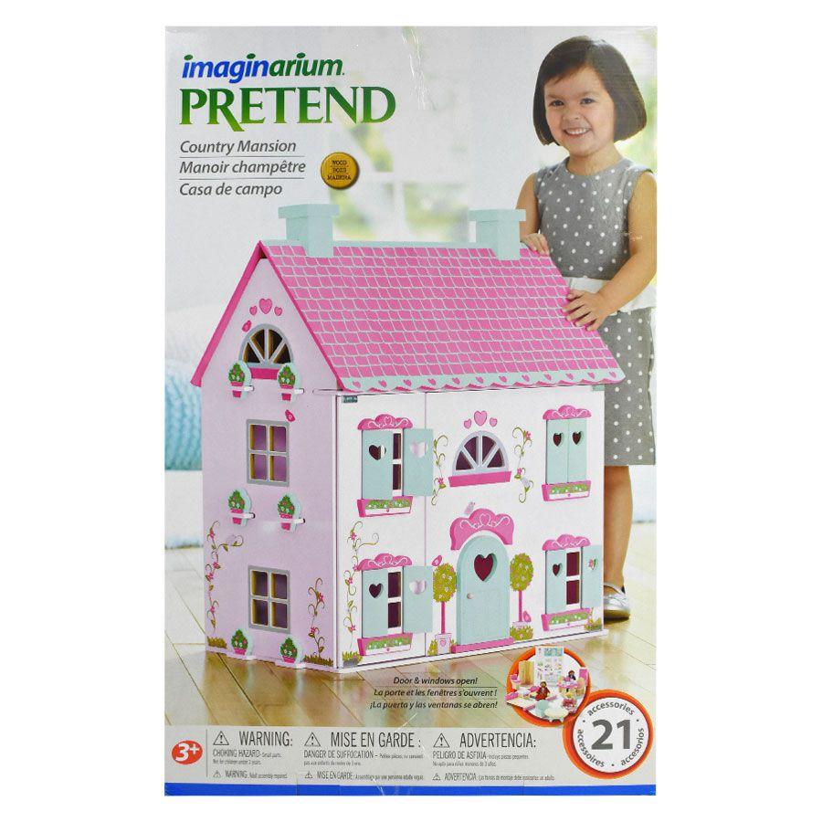 Best Large Wooden Kids Doll House Barbie Kit Girls Play Dollhouse Mansion New Us Imaginarium