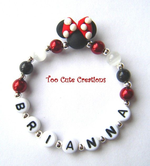 NEW Child/Baby Personalized Handmade FIMO Minnie Mouse by Kell22j, $3.30