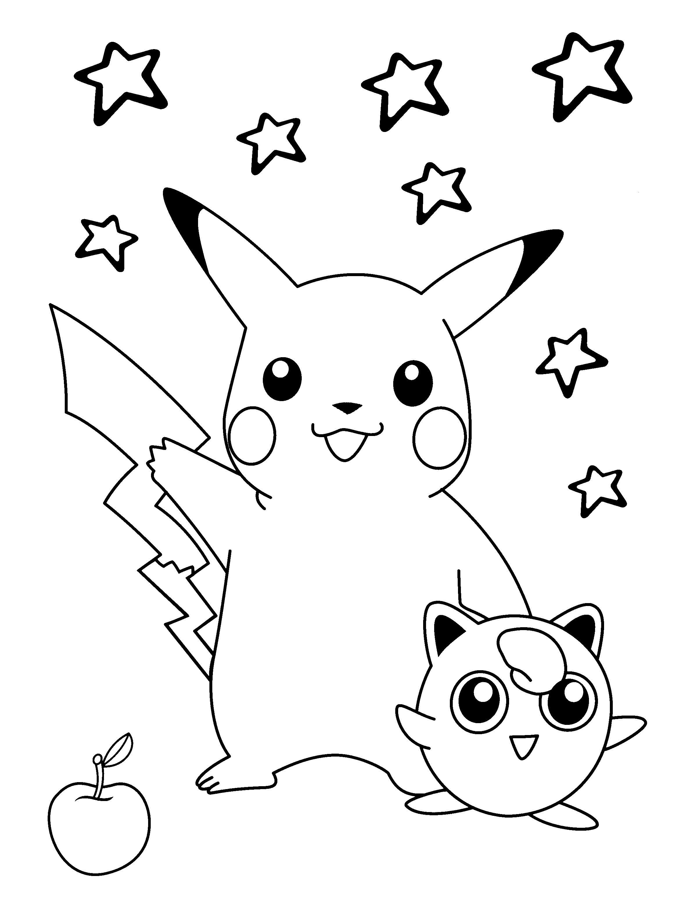 32 Prodigue Dessin Coloriage Pokemon Pictures   Coloriage pikachu ...