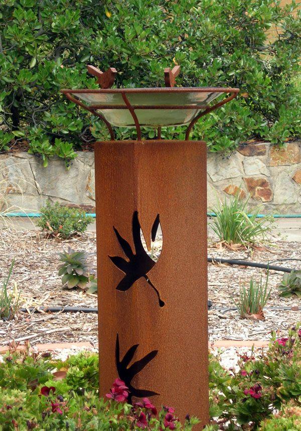 Metal Garden Art Photograph metal garden art birdbath 1 60