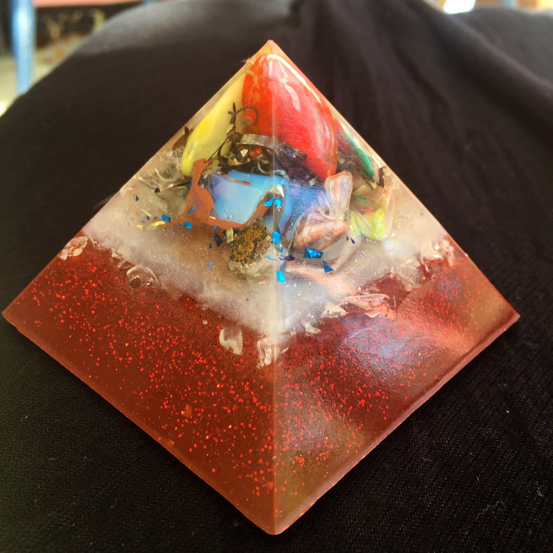 Cosmic Orgonite® Pyramid- with Titanium Shavings- Astral Travel
