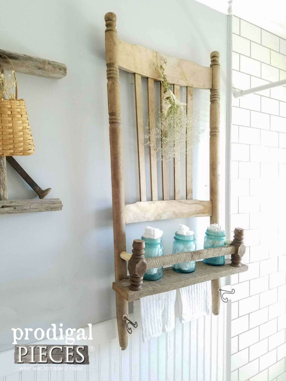 Photo of Lovely Upcycled DIY Chair for Your Bathroom