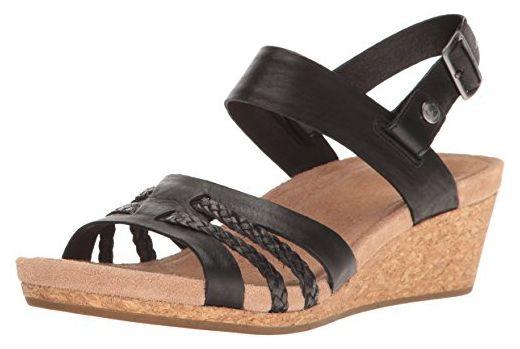 Tamaris Leather Sandals Damen Plateauschuhe, Sandalen