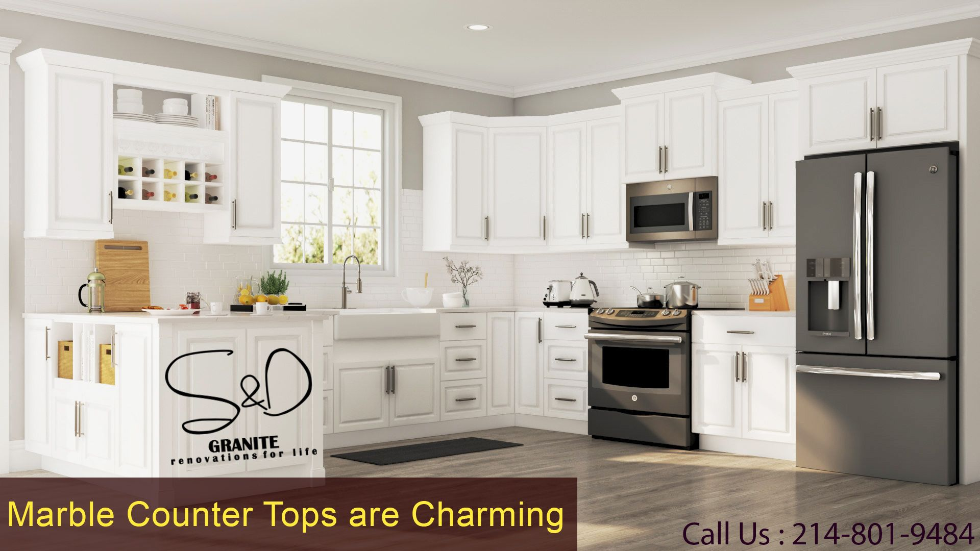 Contact S &D Granite today for kitchen & bathroom ...