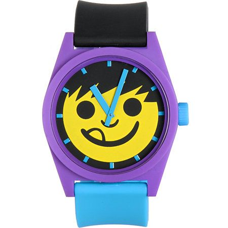 323f4ab2bb4 Neff Daily Pieced Smiley Purple   Yellow Watch at Zumiez   PDP ...