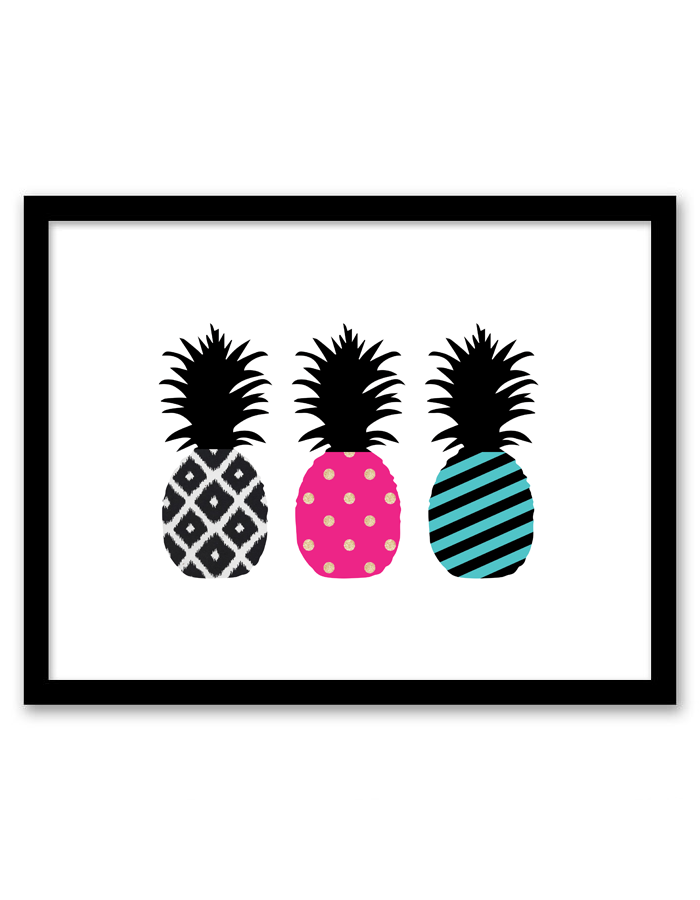Free Printable Pineapple Wall Art  Printable pictures Card stock
