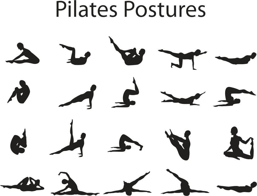 Pilates Postures Print For My Workout Room