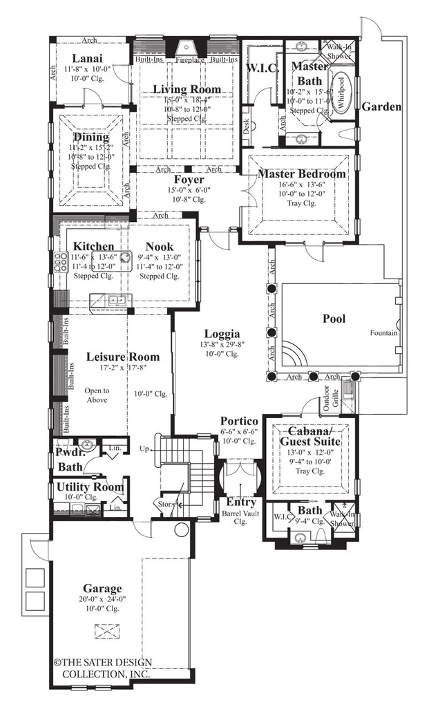 Salcito House Plan House Plans Courtyard House Plans Mediterranean Style House Plans