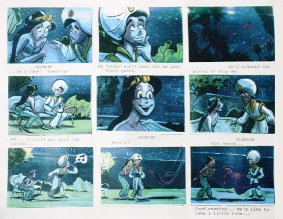 DisneyS Aladdin Storyboard  Just Because You Have A Fast Pass