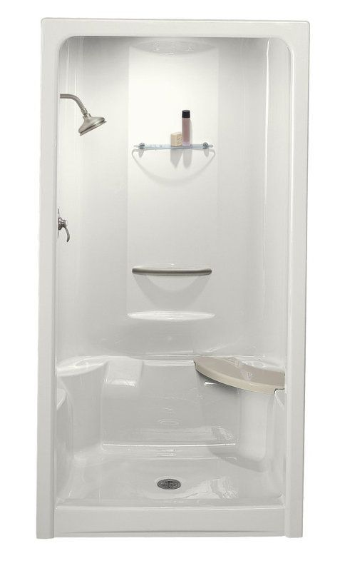 Kohler K 1687 Build Com One Piece Shower Small Bathroom With Shower Shower Remodel