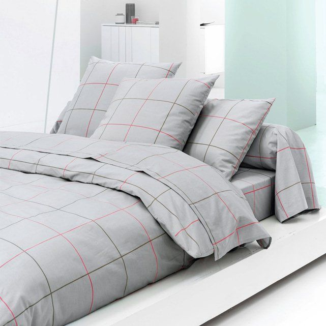 Since I love grey -  KARO Percale Duvet Cover, Densely Woven Pure Cotton Percale
