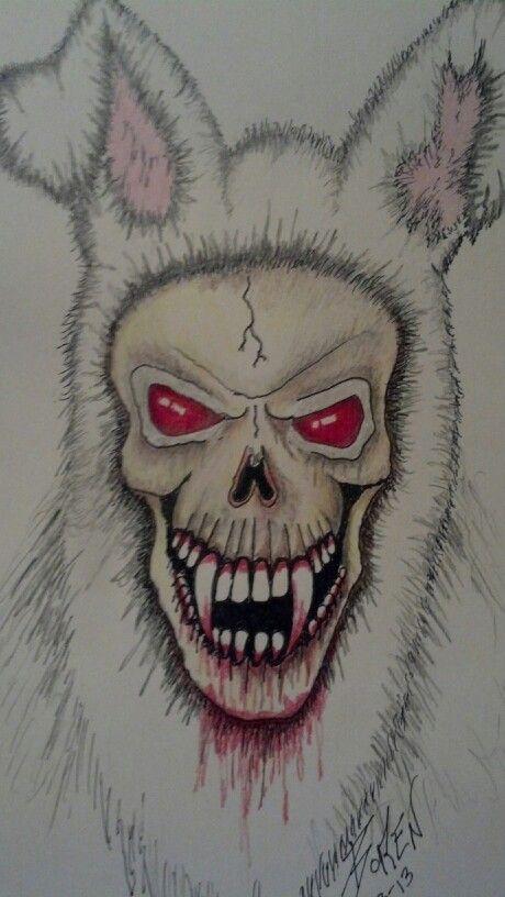 My Evil rabbit drawing - photo#17