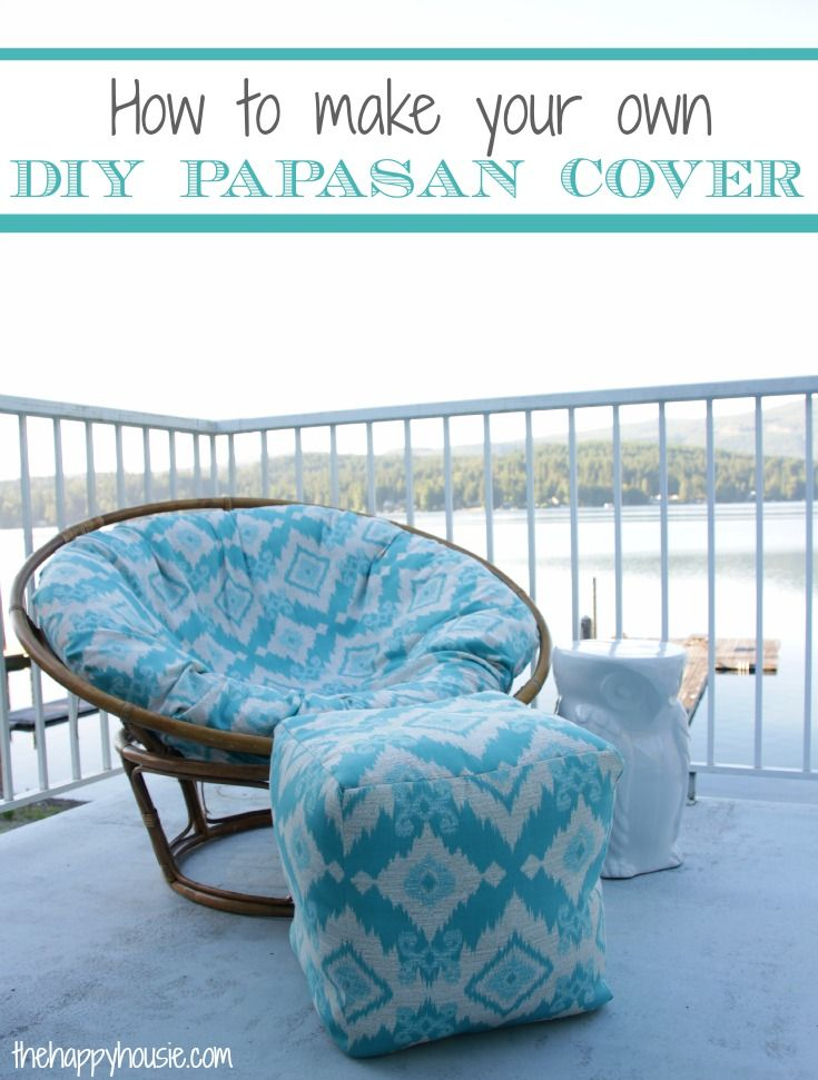 How to Sew a DIY Papasan Chair Cover